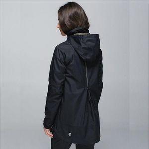 Rare Lululemon Fo Drizzle Rain Jacket Black Camo